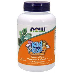 Жевательный кальций, Kid Cal, Now Foods, 100 таблет