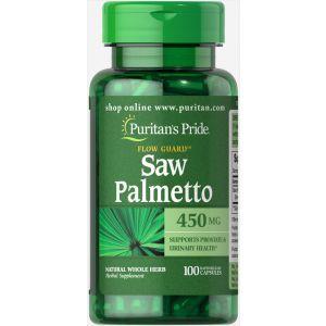 Со пальметто, Saw Palmetto, Puritan's Pride, 450 мг, 100 капсул
