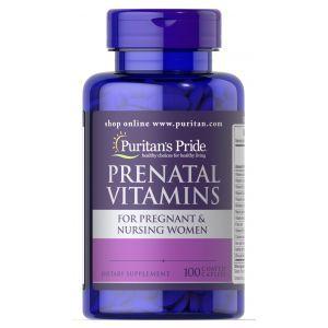 Витамины для беременных, Prenatal Vitamins, Puritan's Pride, 100 капсул