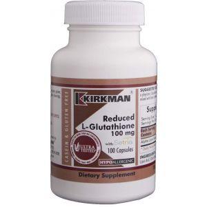 L-глутатион, Kirkman Labs, 100 мг, 100 капсул