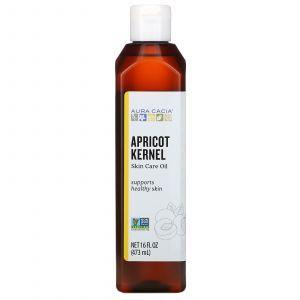 Масло из абрикосовых косточек, Skin Care Oil, Aura Cacia, омолаживающее, 473 мл