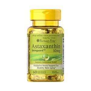 Астаксантин, Natural Astaxanthin 1 mg, Puritan's Pride, 10 мг, 60 капсул