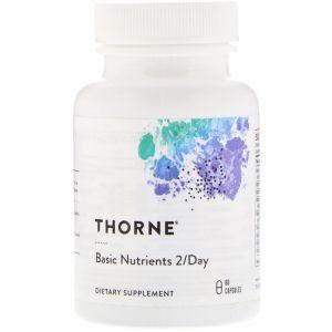 Мультивитамины и мультиминералы формула, Basic Nutrients 2/Day, Thorne Research, 60 капсул