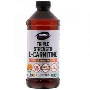 Карнитин жидкий, L-Carnitine, Now Foods, Sports, 3000 мг, (473 мл) (Default)