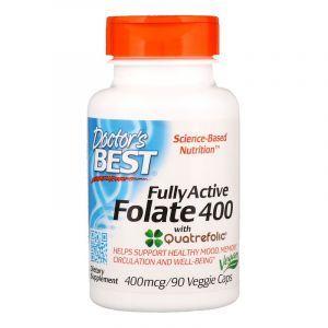 Фолат, Folate, Doctor's Best, 400 мкг, 90 капсул (Default)