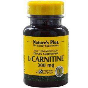 L-карнитин тартрат, Nature's Plus, 30 капсул
