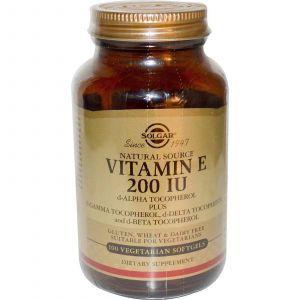 Витамин Е, Solgar, 200 МЕ, 100 капс