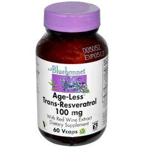 Ресвератрол, Bluebonnet Nutrition, 100 мг, 60 к