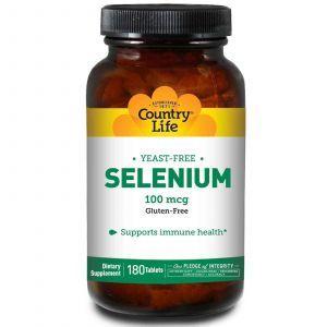 Селен, Country Life, 100 мкг, 180 таблеток