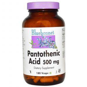 Пантотеновая кислота, Bluebonnet Nutrition, 180 кап