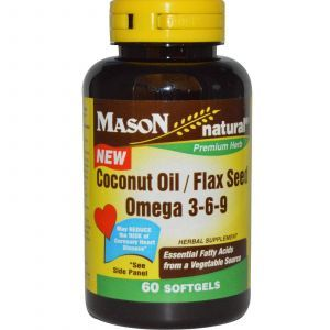 Омега 3 6 9, Mason Vitamins, 60 капсул