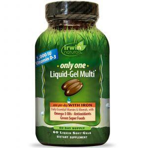 Мультивитамины с железом, Irwin Naturals, 60 кап.