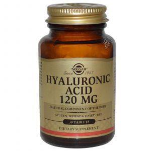 Гиалуроновая кислота, Solgar, 120 мг, 30 таблет