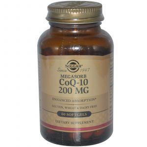 Коэнзим Q10, Solgar, 200 мг, 60 гелевых кап