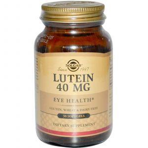 Лютеин, Solgar, 40 мг, 30 капсул