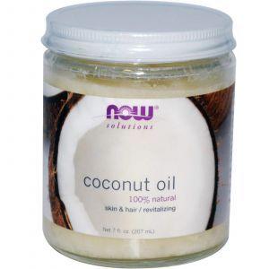 Кокосовое масло, Now Foods, органическое, 207 г