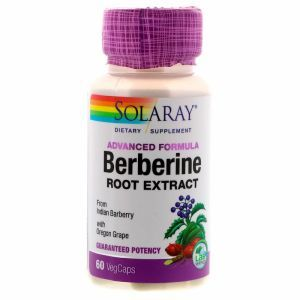 Берберин, Berberine, Solaray, экстракт корня, 60 капсул (Default)