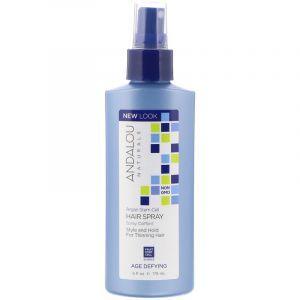 Спрей для объема волос, Hair Spray, Andalou Naturals, восстанавливающий, 178 мл. (Default)