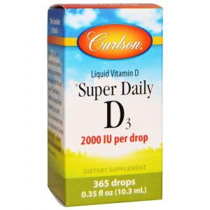 Витамин Д3, Vitamin D3, Carlson Labs, 2000 МЕ, 10,3 м