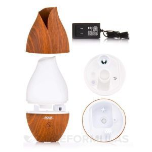 Диффузор ультразвуковой масляный деревянный (Wooden Ultrasonic Oil Diffuser), Now Foods, Solutions, 1 шт