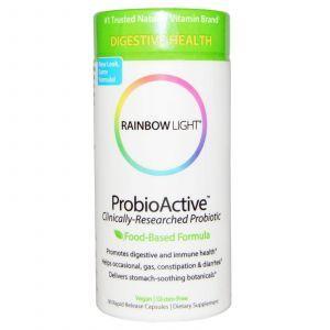 Пробиотики и Энзимы, ProbioActive, Rainbow Light, 90 капсул