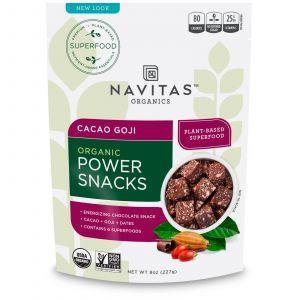 Энергетическая закуска, какао и годжи, Power Snacks, Navitas Naturals, 227 г (Default)