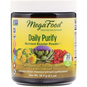 Очищение, Daily Purify, MegaFood, несладкий, 58.9 грамм (Default)