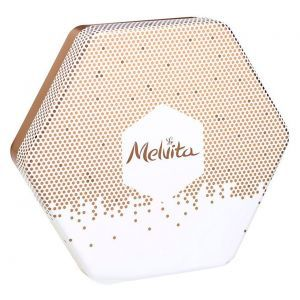 Коробка подарочная, Melvita, коричневая, металлическая, 1 шт