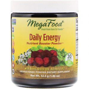 Свекла, Daily Energy, MegaFood, неподслащенный порошок, 52.5 грамм (Default)