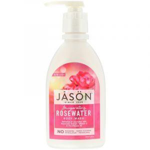 Гель для душа, тонизирующий, роза, Body Wash, Jason Natural, 887 мл (Default)