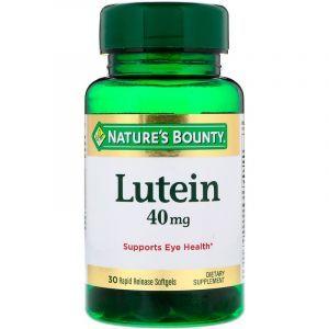 Лютеин (Lutein), Nature's Bounty, 40 мг, 30 капсул (Default)