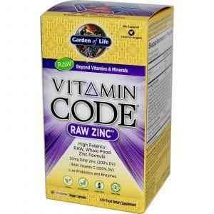Сырой Цинк с витамином С, Garden of Life, 60 капсул