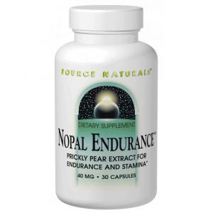 Нопал кактус, Nopal Endurance, Source Naturals, 40 мг, 30 капсул