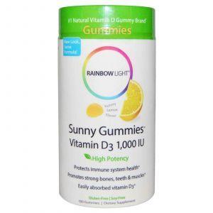 Витамин Д3, Rainbow Light, 1000 МЕ, 100 таблето