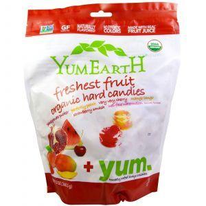 Органические леденцы, Organic Freshest Fruit Organic Hard Candies,YumEarth