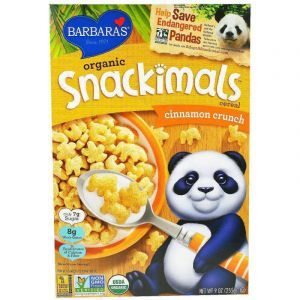 Зерновые снеки с корицей, Snackimals Cereal, Barbara's Bakery, органик, 255 г