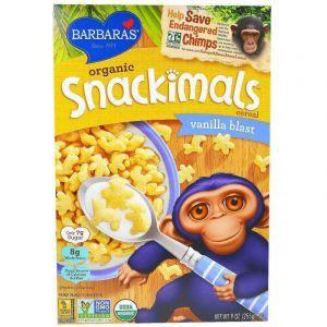 Зерновые снеки с ванилью, Snackimals Cereal, Barbara's Bakery, органик, 255 г