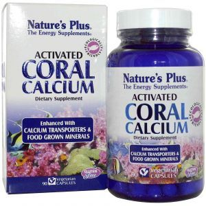 Коралловый кальций, Nature's Plus, 90 капсул