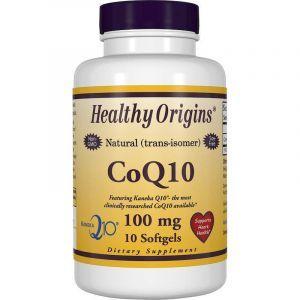 Коэнзим CoQ10, CoQ10 Gels (Kaneka Q10), Healthy Origins, 100 мг, 10 кап. (Default)