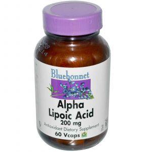 Альфа-липоевая кислота, Bluebonnet Nutrition, 200 мг, 6