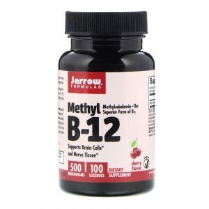 Витамин В12, Methyl B-12, Jarrow Formulas, 500 мкг, 100 леденцов