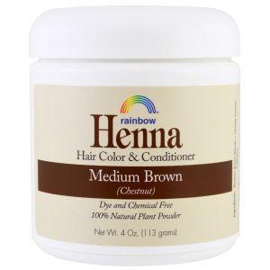 Хна для волос, Rainbow Research, Средний Браун (Каштан), 113г.