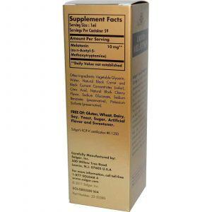 Мелатонин, Solgar, жидкий, 10 мг, (50 мл.)