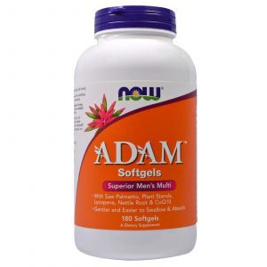 Витаминный комплекс Адам, ADAM, Men's Multi, Now Foods, 180 капсу