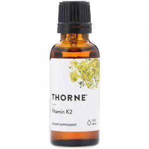 Витамин К2 (Vitamin K2), Thorne Research, жидкий, 30 мл (Default)