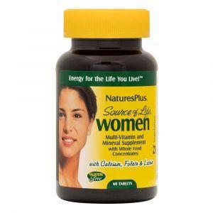 Мультивитамины для женщин, Multi-Vitamin and Mineral, Nature's Plus, Source of Life, 60 таблеток