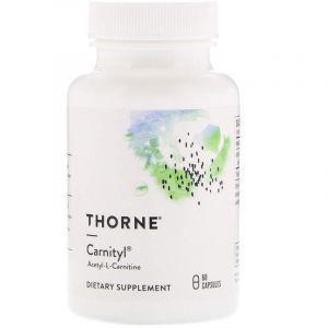 Ацетил карнитин, Carnityl, Thorne Research, 60 капсул. (Default)