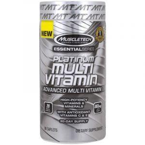 Мультивитамины, Plantinum Multi Vitamin, Muscletech, Essential Series, 90 таблеток