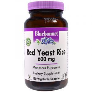 Красный дрожжевой рис, Red Yeast Rice, Bluebonnet Nutrition, 600 мг, 120 капсул (Default)
