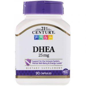 ДГЭА (дегидроэпиандростерон), DHEA-25 mg, 21st Century , 90 капсул (Default)